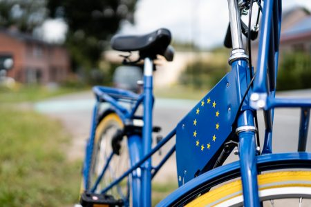 Europa-fiets close-up